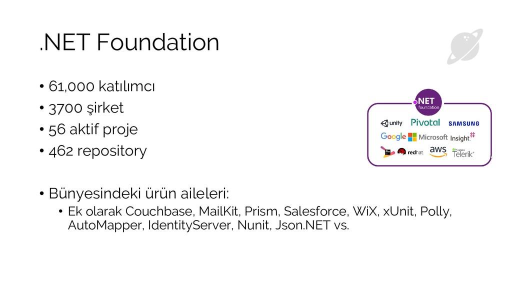 .NET Foundation • 61,000 katılımcı • 3700 şirke...