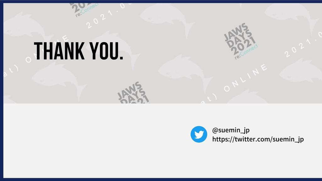 THANK YOU. https://twitter.com/suemin_jp @suemi...