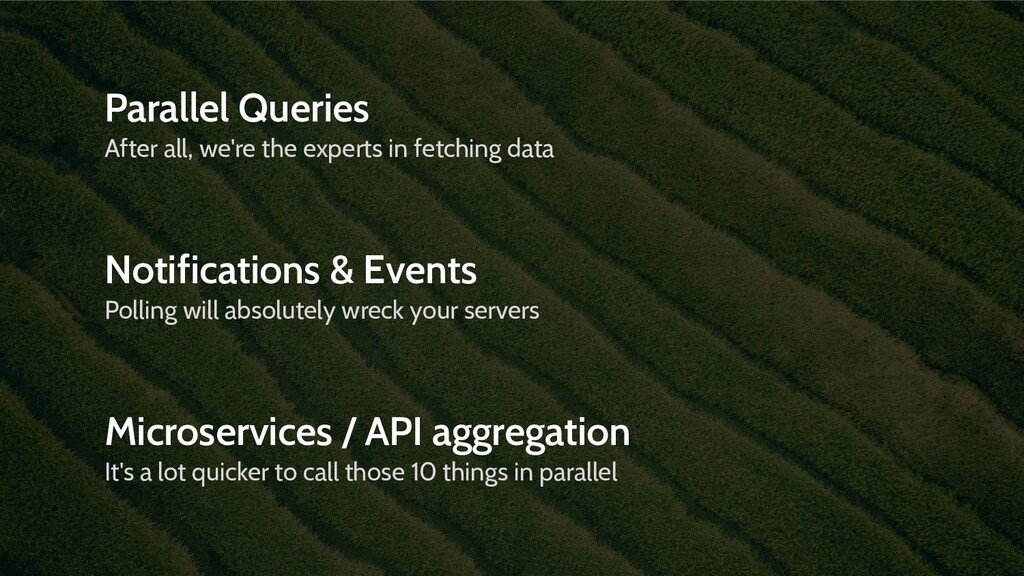 Parallel Queries After all, we're the experts i...