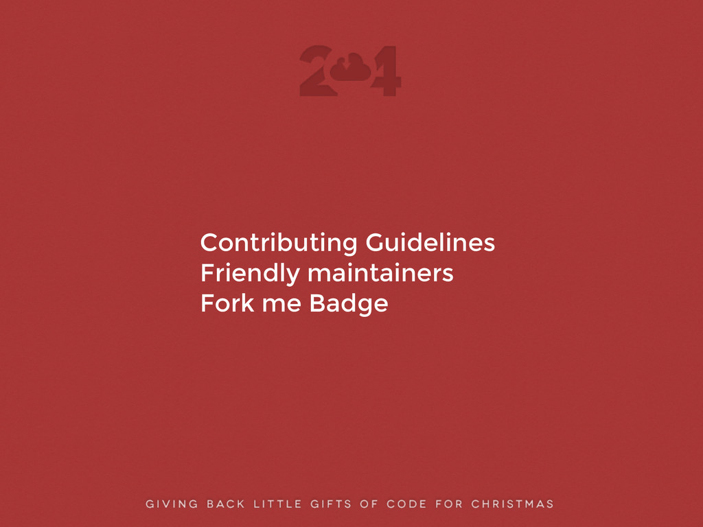 ! ! Contributing Guidelines Friendly maintainer...