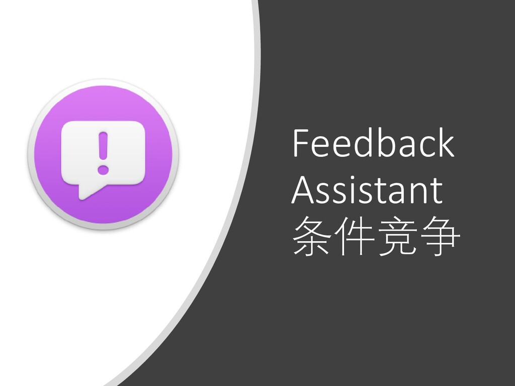 Feedback Assistant 条件竞争