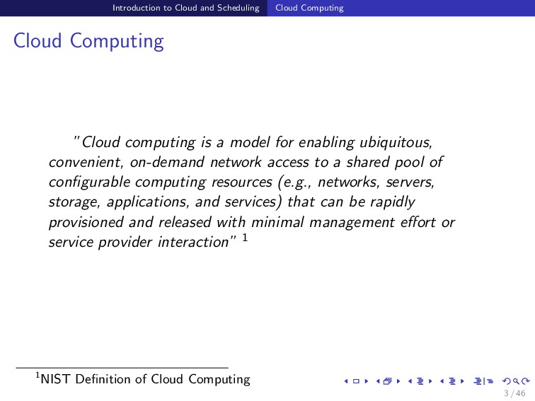 Introduction to Cloud and Scheduling Cloud Comp...