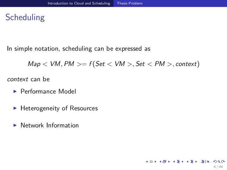 Introduction to Cloud and Scheduling Thesis Pro...