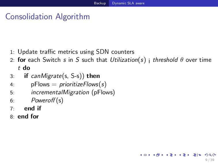 Backup Dynamic SLA aware Consolidation Algorith...