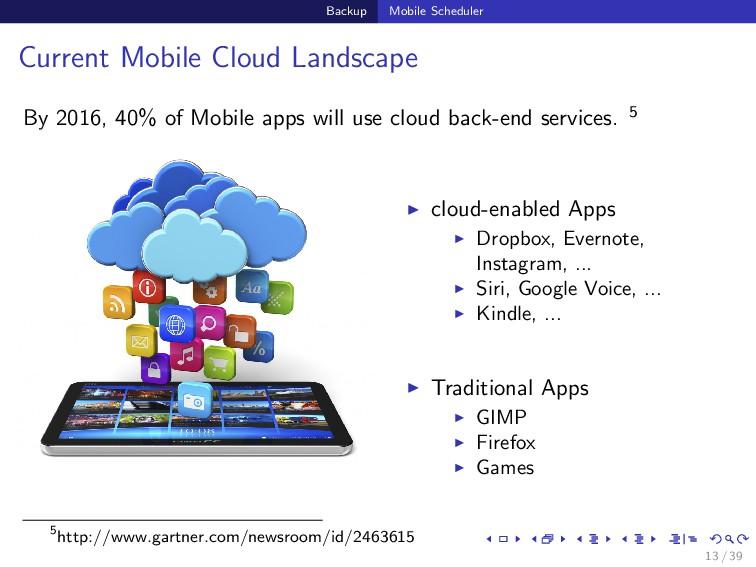 Backup Mobile Scheduler Current Mobile Cloud La...