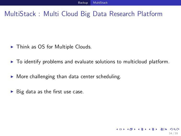 Backup MultiStack MultiStack : Multi Cloud Big ...