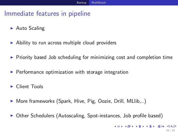 Backup MultiStack Immediate features in pipelin...