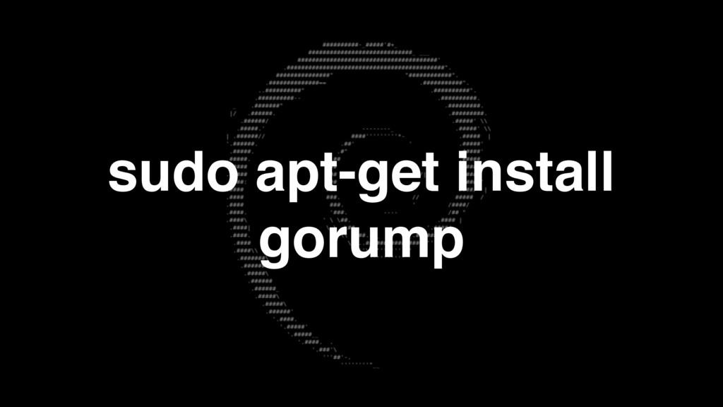 sudo apt-get install gorump