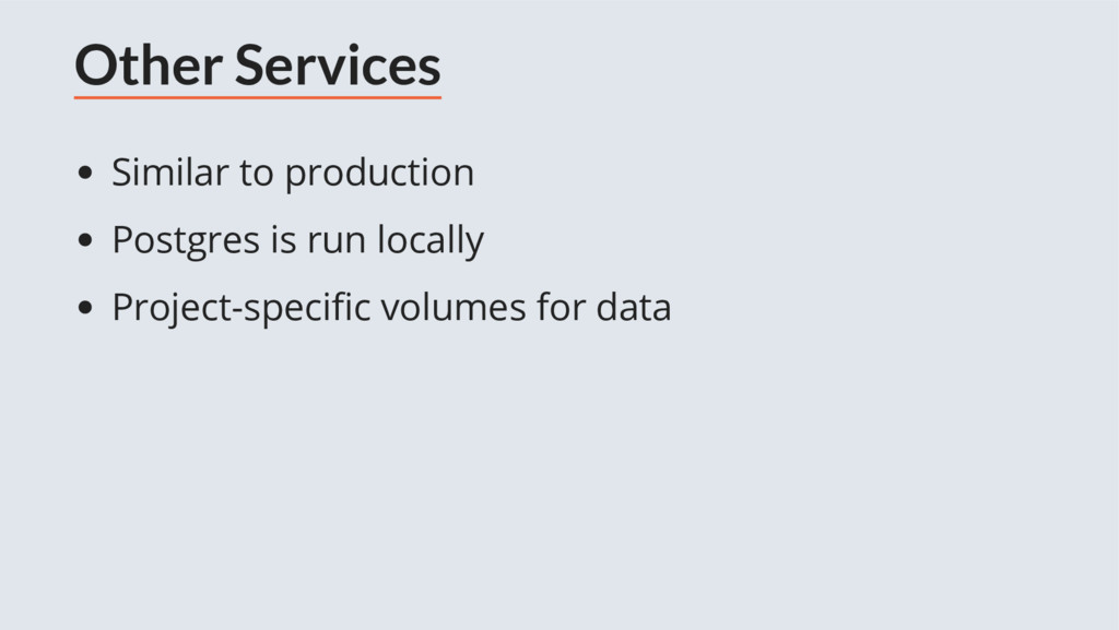 Other Services Similar to production Postgres i...
