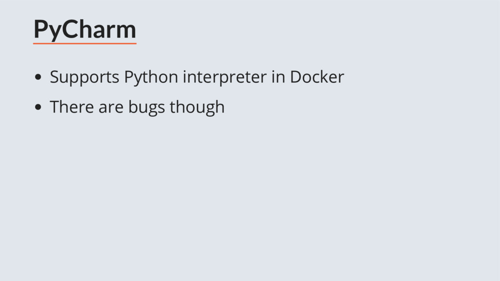 PyCharm Supports Python interpreter in Docker T...