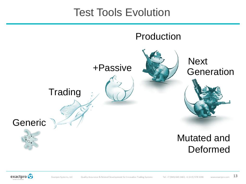 Test Tools Evolution Generic 13 Trading +Passiv...