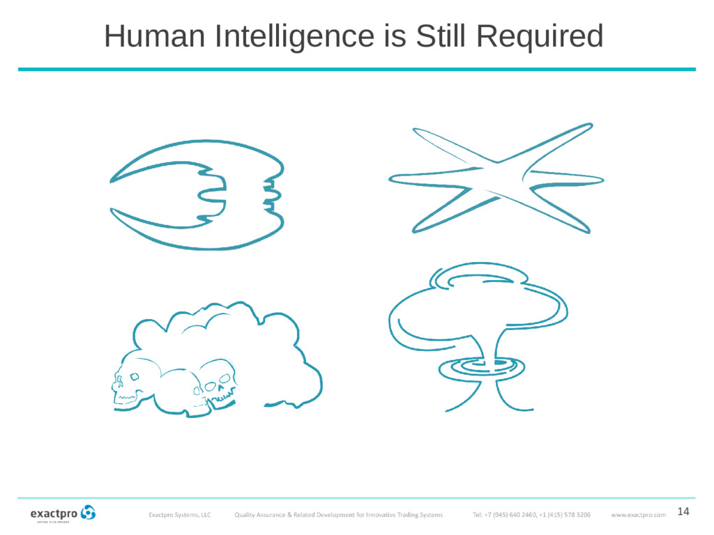 14 Human Intelligence is Still Required
