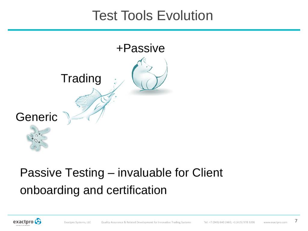 Test Tools Evolution 7 Passive Testing – invalu...
