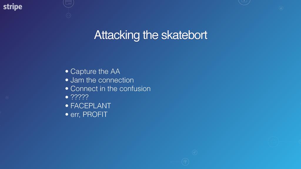 Attacking the skatebort • Capture the AA • Jam ...