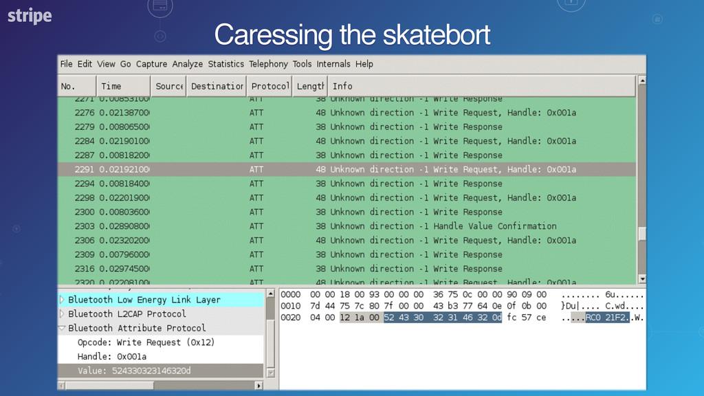 Caressing the skatebort