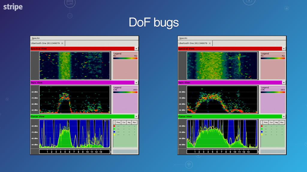 DoF bugs