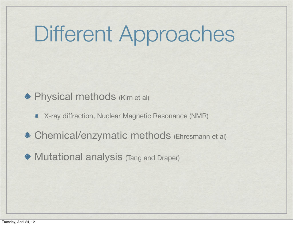 Different Approaches Physical methods (Kim et a...