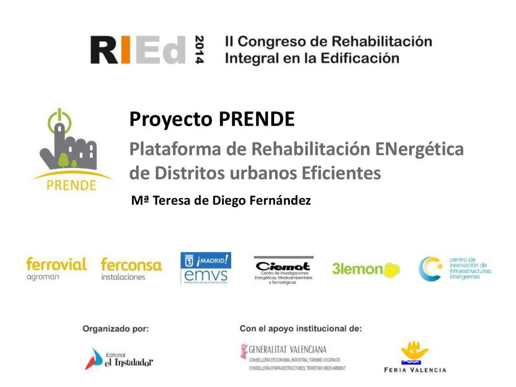Mª Teresa de Diego Fernández Proyecto PRENDE Pl...