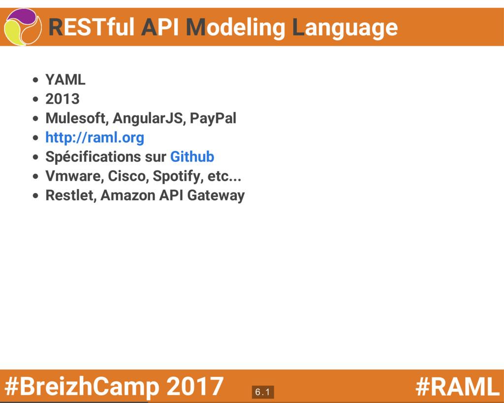 #BreizhCamp 2017 #RAML RESTful API Modeling Lan...