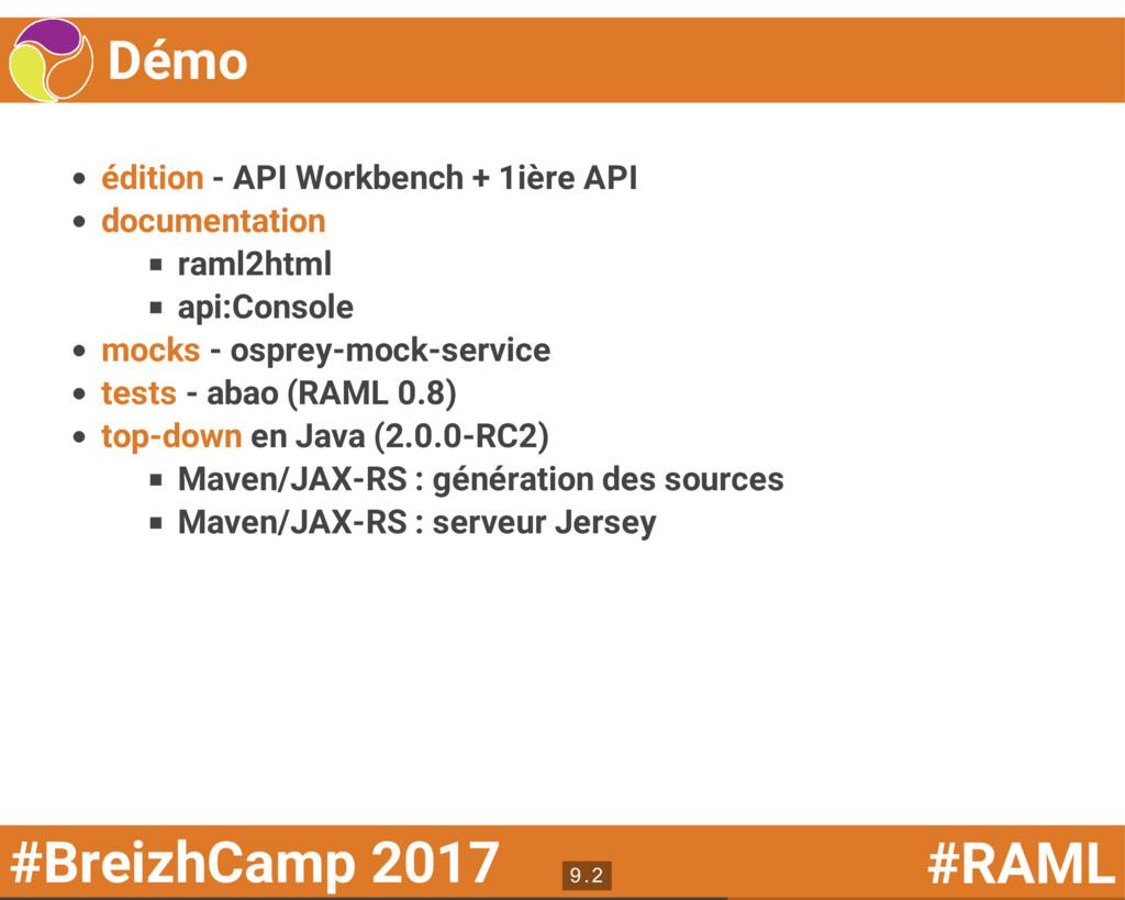 #BreizhCamp 2017 #RAML Démo édition - API Workb...