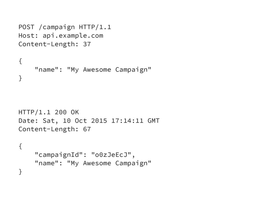 POST /campaign HTTP/1.1 Host: api.example.com C...