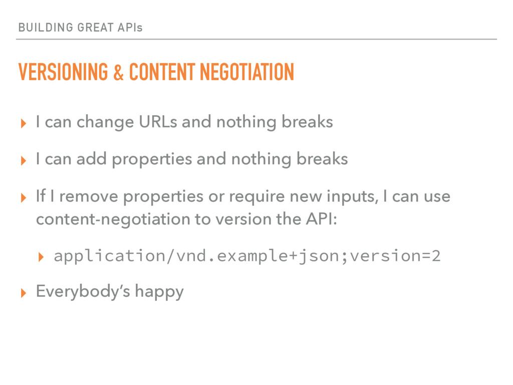 BUILDING GREAT APIs VERSIONING & CONTENT NEGOTI...