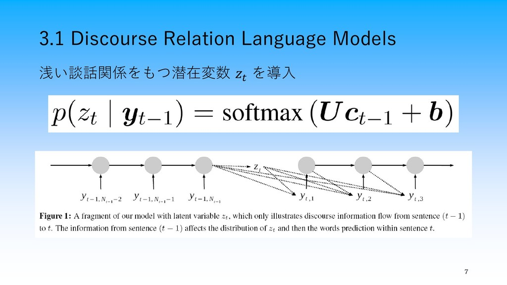3.1 Discourse Relation Language Models 7 浅い談話関係...