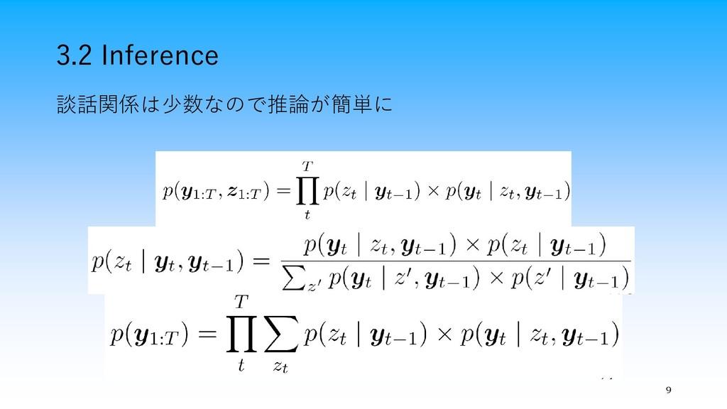 3.2 Inference 9 談話関係は少数なので推論が簡単に