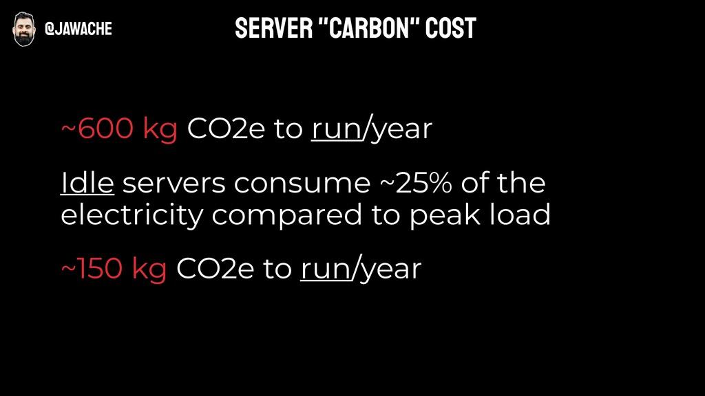 @jawache ~600 kg CO2e to run/year Idle servers ...