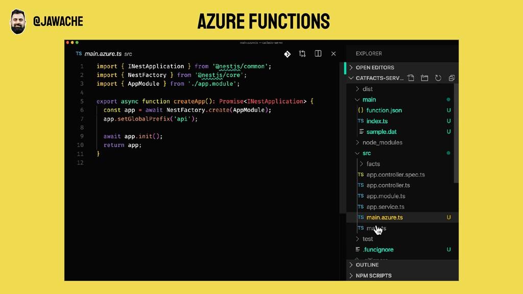 Azure functions @jawache