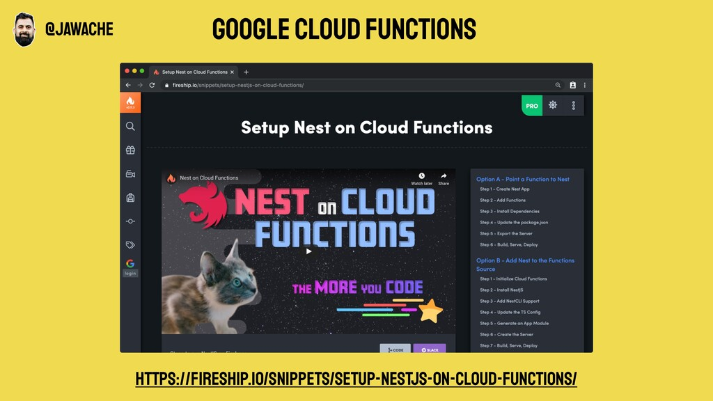 google cloud functions https://fireship.io/snipp...