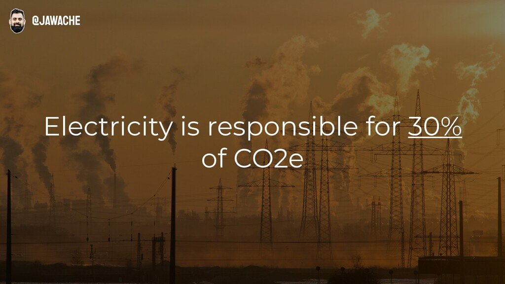 Electricity is responsible for 30% of CO2e @jaw...