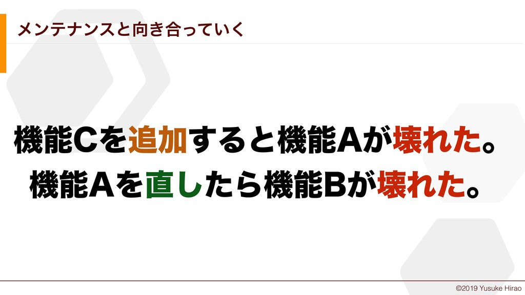 "©2019 Yusuke Hirao ϝϯςφϯεͱ͖߹͍ͬͯ͘ ػ$ΛՃ͢Δͱػ""͕..."