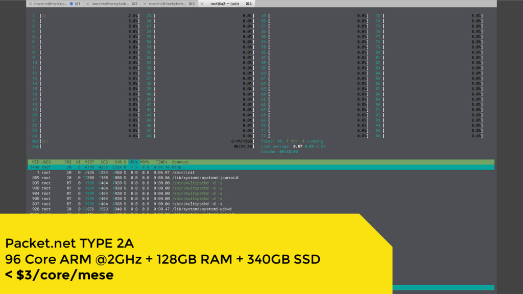 Packet.net TYPE 2A 96 Core ARM @2GHz + 128GB RA...
