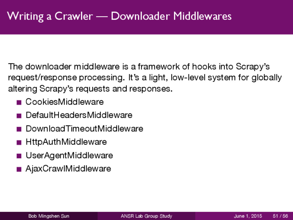 Writing a Crawler — Downloader Middlewares The ...