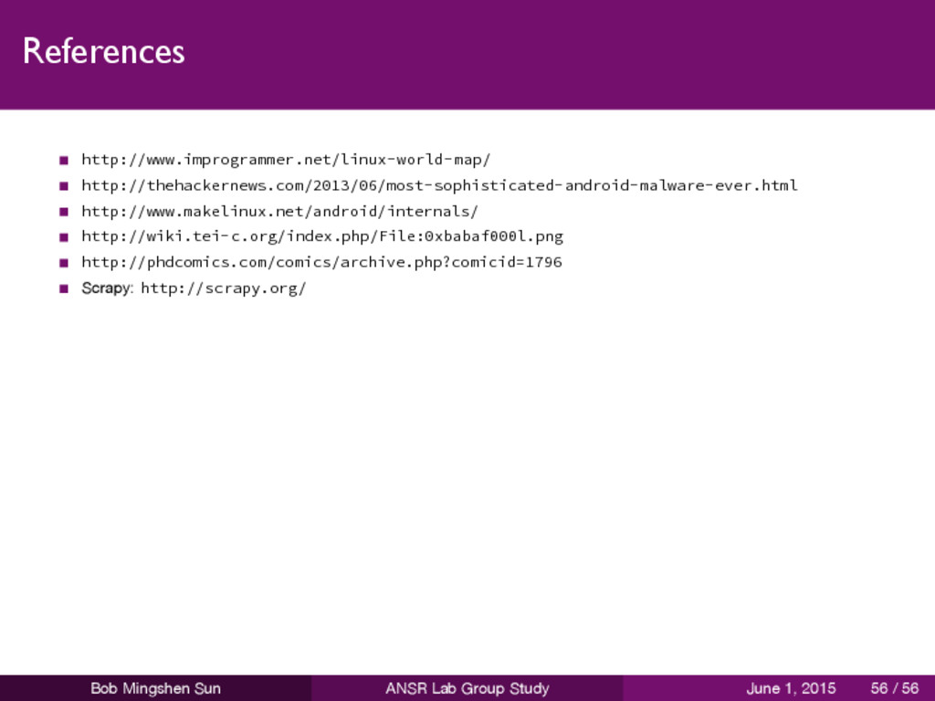 References http://www.improgrammer.net/linux-wo...