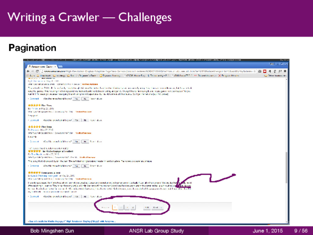Writing a Crawler — Challenges Pagination Bob M...