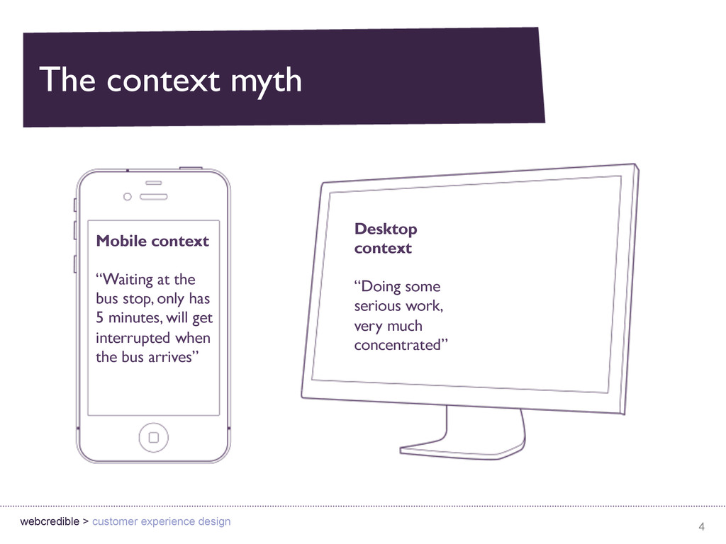 The context myth 4 webcredible > customer exper...