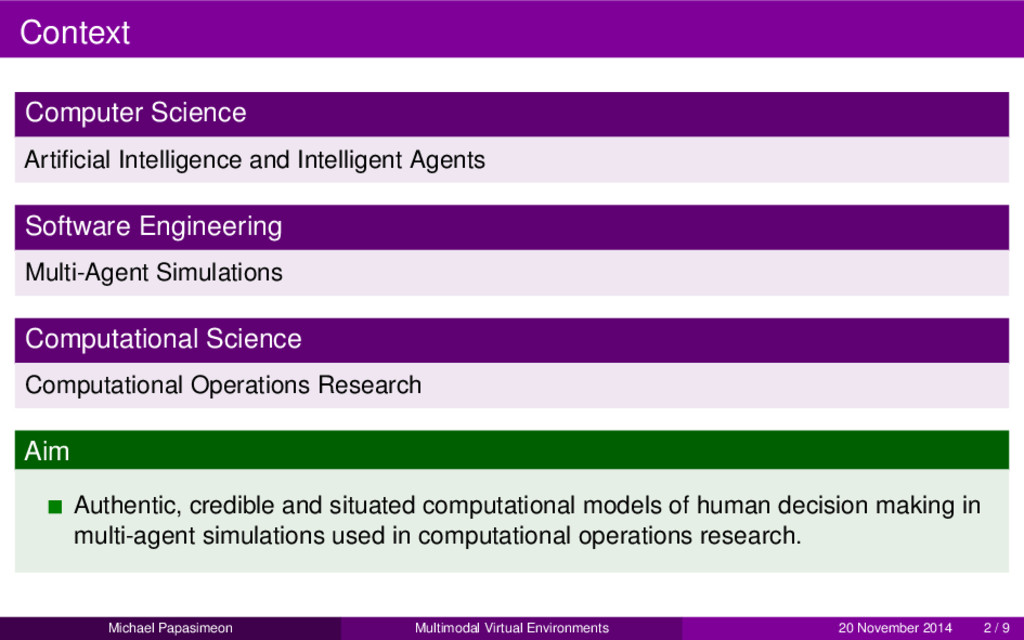 Context Computer Science Artificial Intelligence...