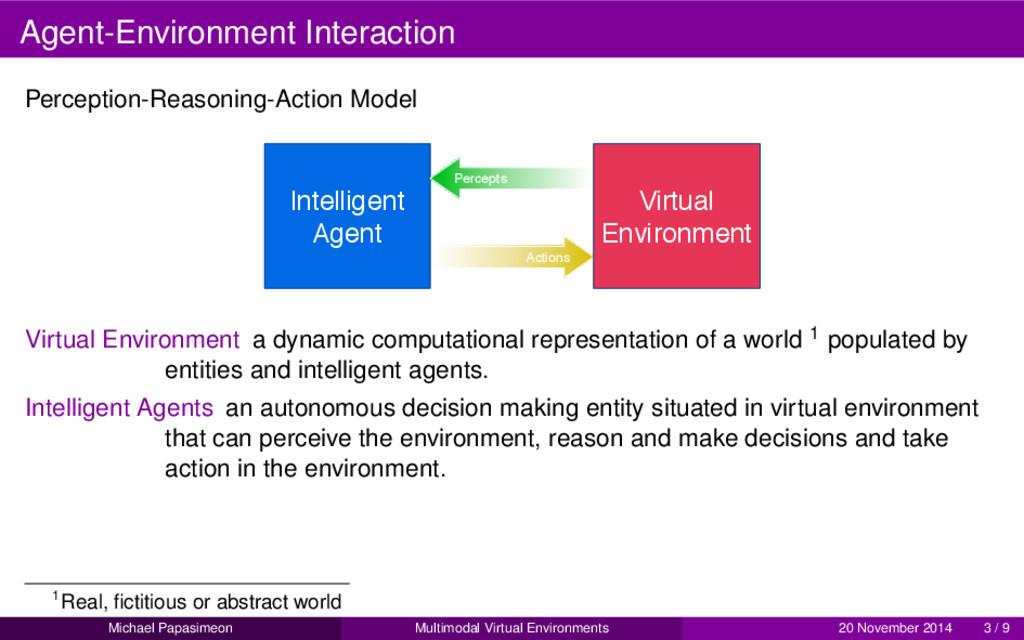 Agent-Environment Interaction Perception-Reason...
