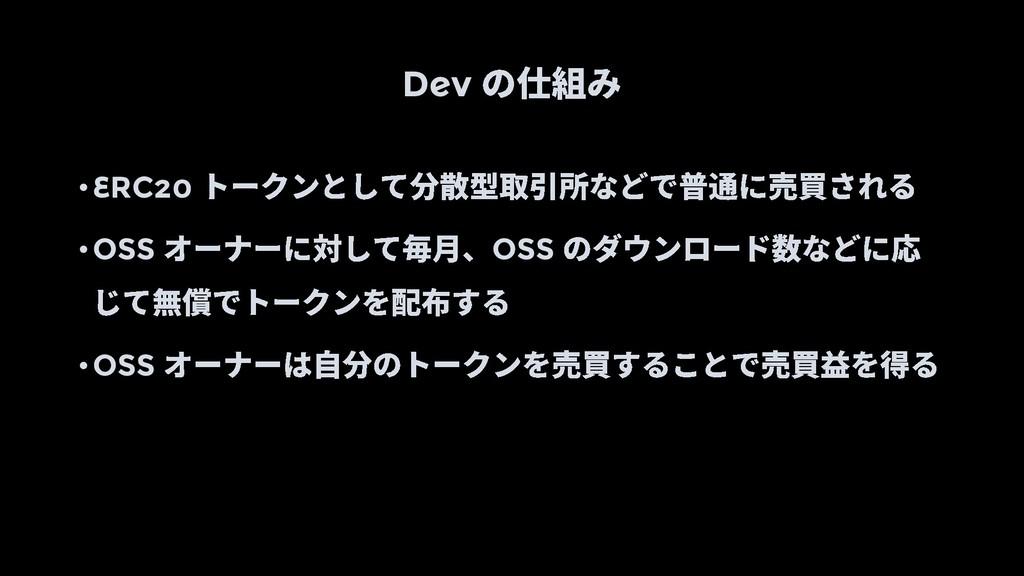 Dev •ERC20 •OSS OSS •OSS
