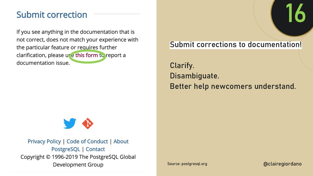 @clairegiordan o Submit corrections to document...