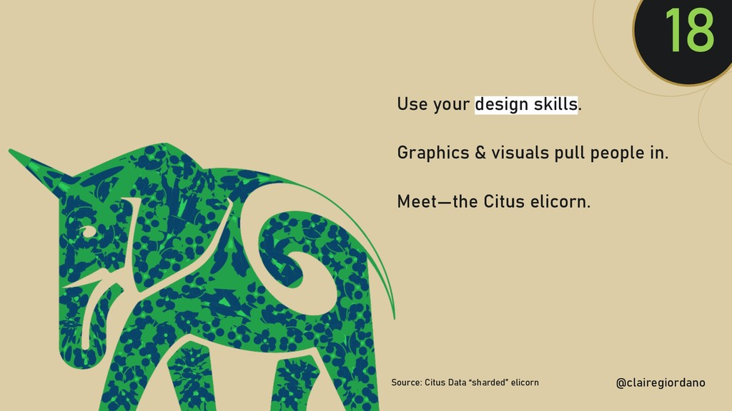 @clairegiordan o 18 Use your design skills. Gra...