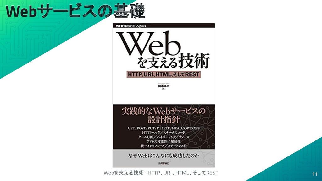 Webサービスの基礎 11 Webを支える技術 -HTTP、URI、HTML、そしてREST
