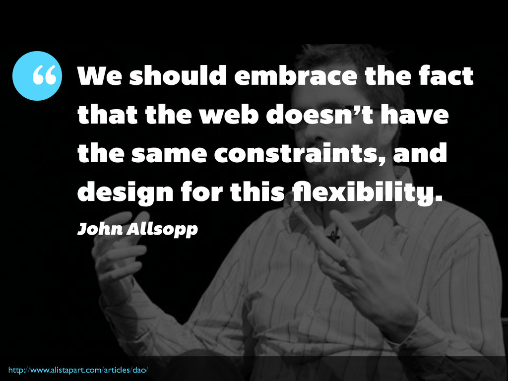 We should embrace the fact that the web doesn't...