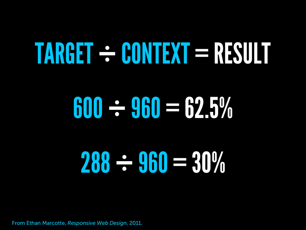 600 ÷ 960 = 62.5% 288 ÷ 960 = 30% TARGET ÷ CONT...