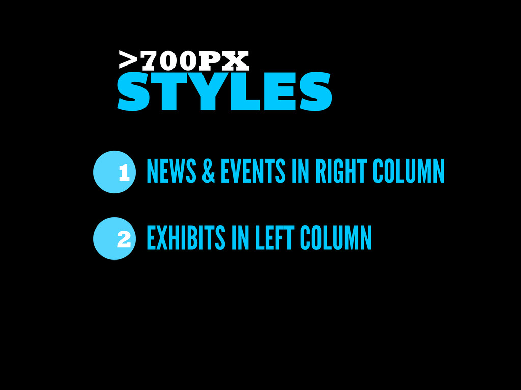 NEWS & EVENTS IN RIGHT COLUMN EXHIBITS IN LEFT ...