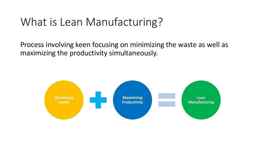 What is Lean Manufacturing? Process involving k...