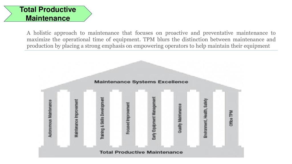 Total Productive Maintenance A holistic approac...