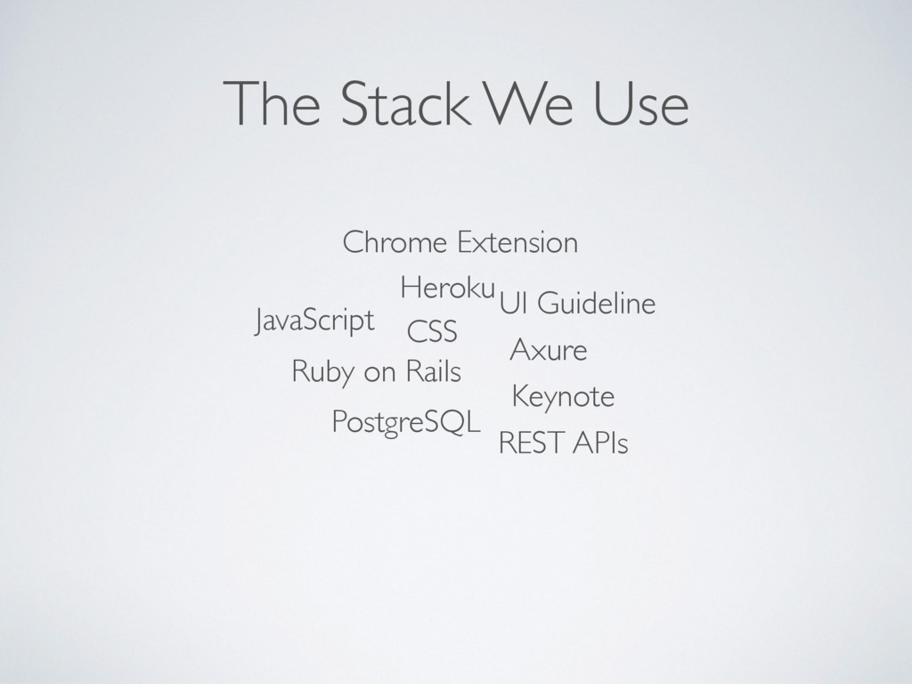 The Stack We Use Chrome Extension JavaScript CS...